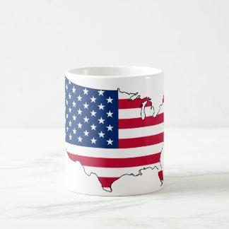 usa flag map coffee mug