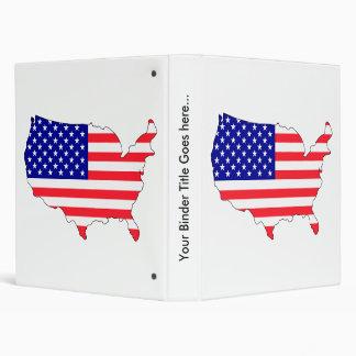 Usa Flag Map full size 3 Ring Binder