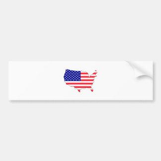 Usa Flag Map full size Car Bumper Sticker