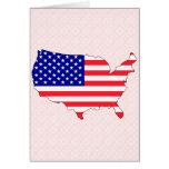 Usa Flag Map full size Card