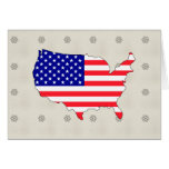 Usa Flag Map full size Greeting Card