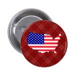 Usa Flag Map full size Pin