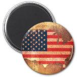 USA Flag Map Magnets