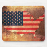 USA Flag Map Mousemats