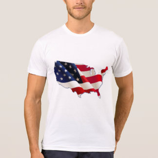 USA Flag, Map of America, 4th of July T-Shirt