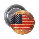 USA Flag Map Pins