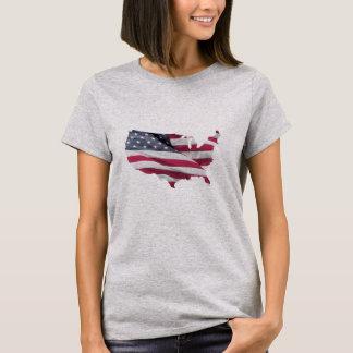USA Flag Map. T-Shirt