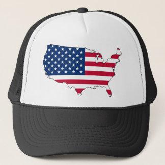 usa flag map trucker hat
