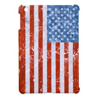 USA FLAG MARBLE iPad MINI CASES