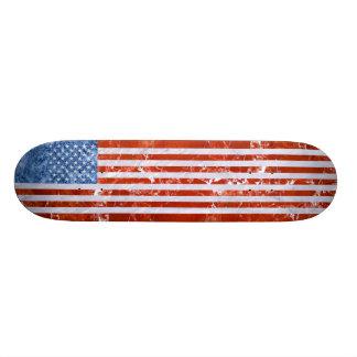 USA FLAG MARBLE SKATEBOARD