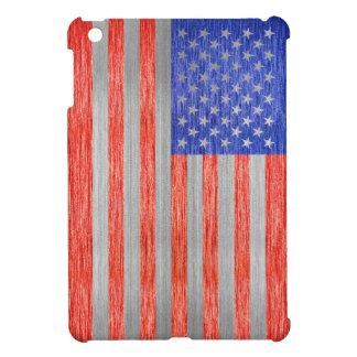 USA FLAG METAL 1 CASE FOR THE iPad MINI