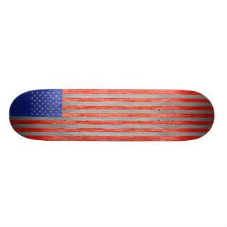 USA FLAG METAL 1 SKATEBOARD