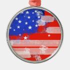 USA flag Metal Ornament