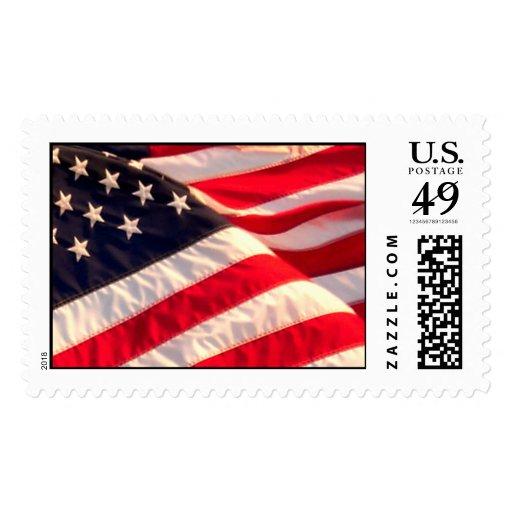 USA Flag Military Wedding Invitation Postage Stamp