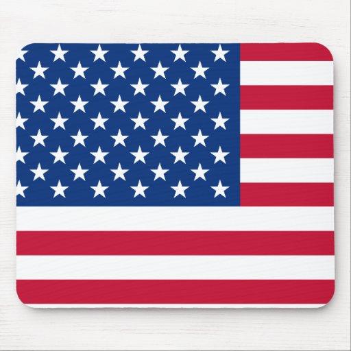 USA flag Mouse Pads