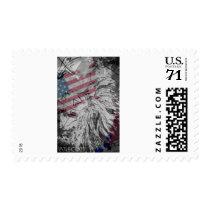 USA Flag Native American Postage Stamps