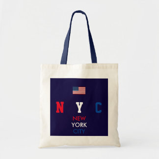 USA flag New York personalized initials/name Tote Bag