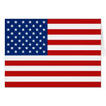USA Flag Notecard Stationery Note Card