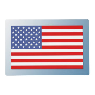 USA flag. Laminated Placemat