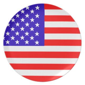 usa flag of america plate