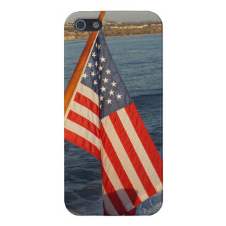 USA Flag on a Boat - iphone5 Case iPhone 5 Cases