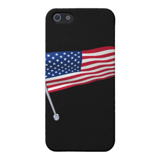USA flag on a pole iPhone SE/5/5s Cover