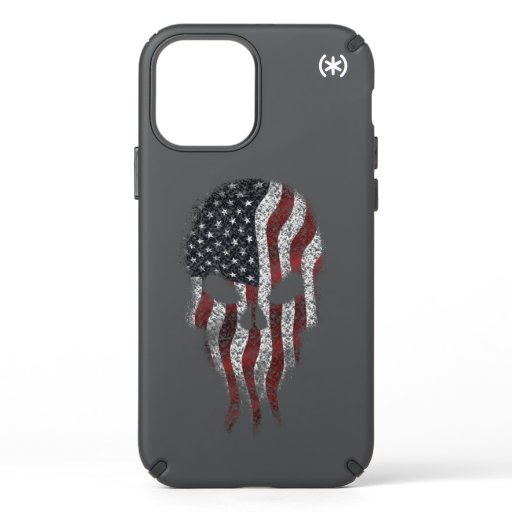USA Flag on Skull Speck iPhone 12 Pro Case