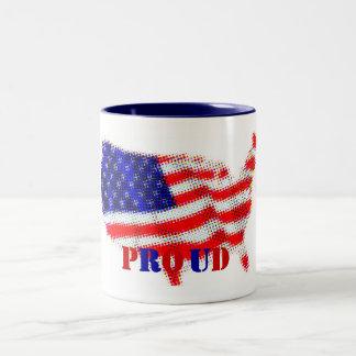 usa-flag, P, R, O, U, D Two-Tone Coffee Mug