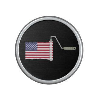USA Flag Paint Roller Speaker