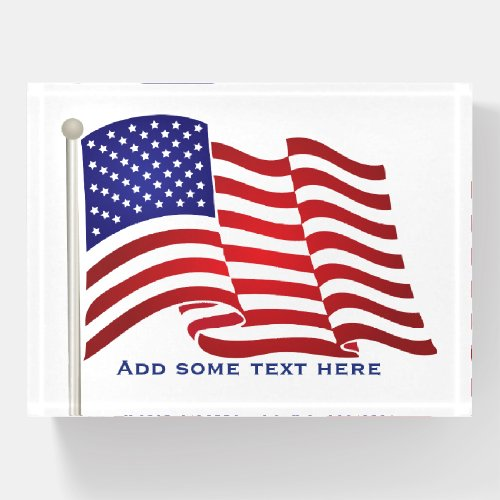 USA FLAG PAPERWEIGHT