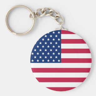 USA Flag Patriotic American 4th of July Keychain