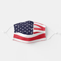 USA Flag, Patriotic American Flag Cloth Face Mask