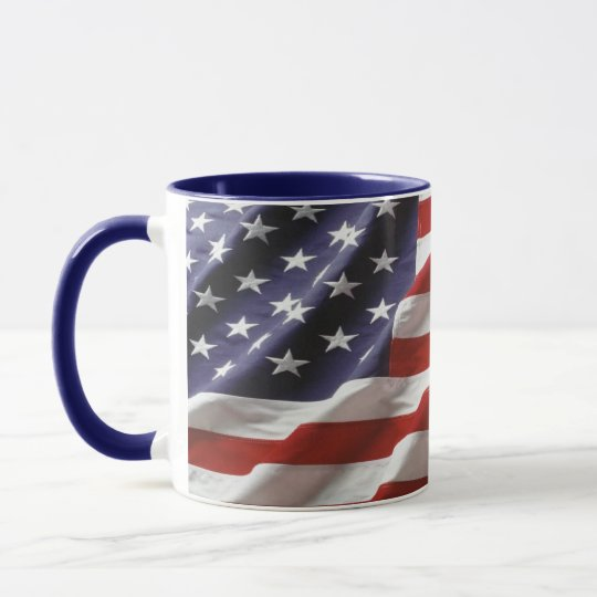 USA Flag Patriotic Coffee Mug