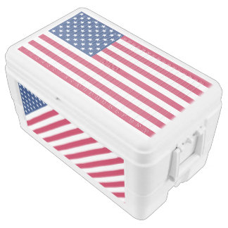 USA Flag Patriotic Stars and Stripes 4th of July Cooler