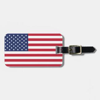 USA Flag Pattern. Perfect Patriotic Gift. American Bag Tag