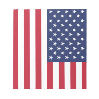 USA Flag Pattern. Perfect Patriotic Gift. American Note Pad