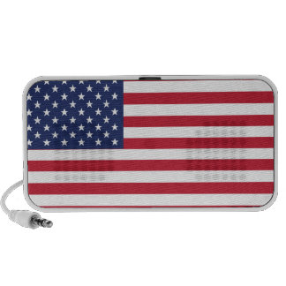 USA Flag Pattern. Perfect Patriotic Gift. American Portable Speakers