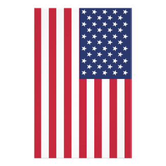 USA Flag Pattern. Perfect Patriotic Gift. American Stationery