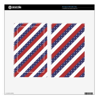 USA Flag Pattern Skin For Kindle Fire