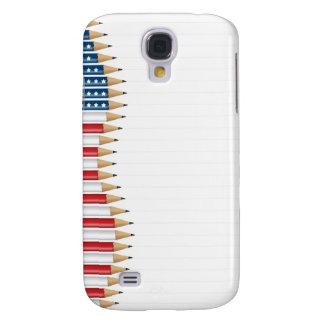 USA flag pencils Case Galaxy S4 Cases