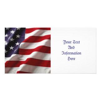USA Flag Photo Card