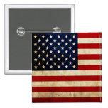 USA Flag Pinback Button
