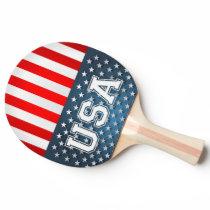 USA Flag Ping-Pong Paddle