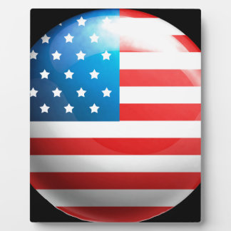 """USA flag"" Photo Plaques"