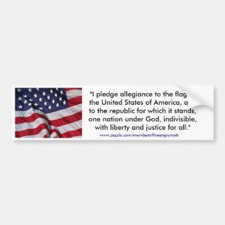 USA FLAG & PLEDGE BUMPER STICKER