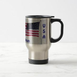 USA Flag Pluribus Unum Traveler Mug