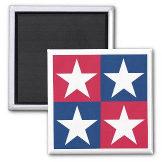 USA Flag Pop Art Stars Magnet