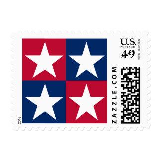 USA Flag Pop Art Stars Postage