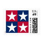 USA Flag Pop Art Stars Postage Stamps