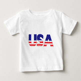 USA flag postage Baby T-Shirt